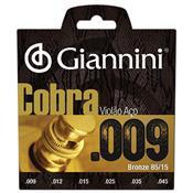 Encordoamento Cobra Para Violão Folk Aço 009 Geewak Giannini