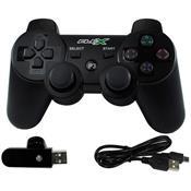 Controle Dual Shock Wireless Para Ps3 Fxjoyps3w Preto Flex