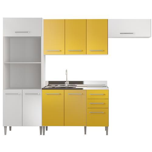 Cozinha Compacta Glamy Elis Tulipa 10 Portas MDF Madesa
