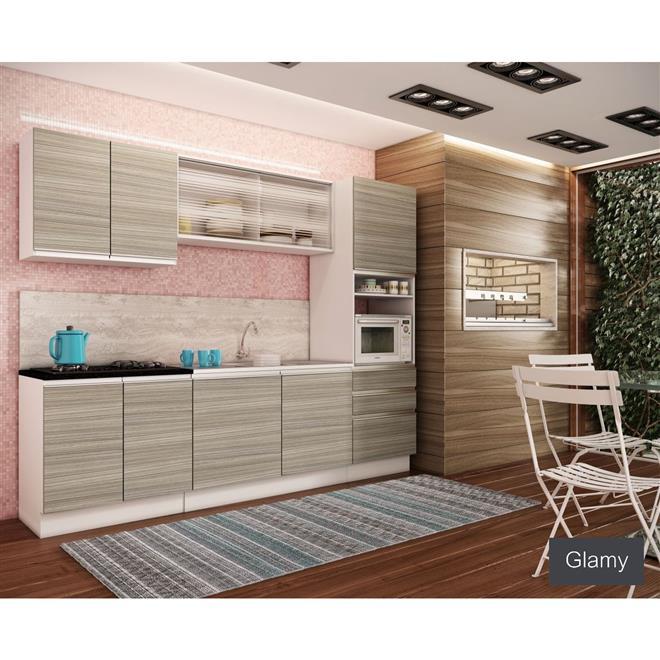 Cozinha Glamy Spezia Bp Ravena Branco G20150162n Madesa  Madesa # Cozinha Compacta Ravena