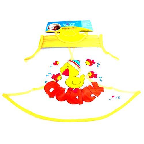 Babador De Plástico Modelo Vestidinho Amarelo 8922 Love