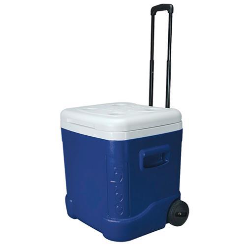 Caixa Térmica Ice Cub 60 Qt Roller Azul 030880 Igloo