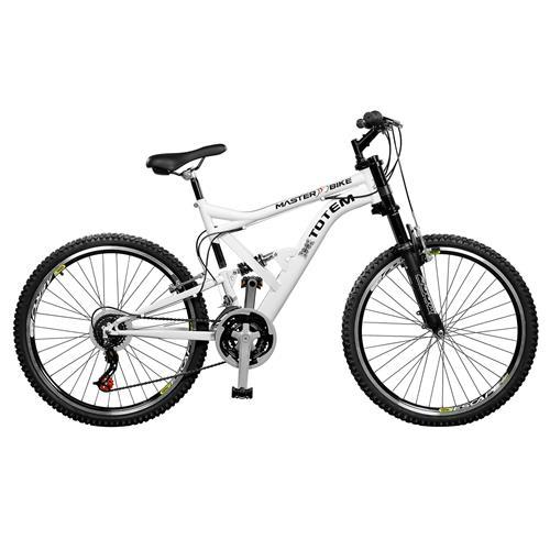Bicicleta Totem Suspensão Alta Aro 26 21 Marchas Master Bike