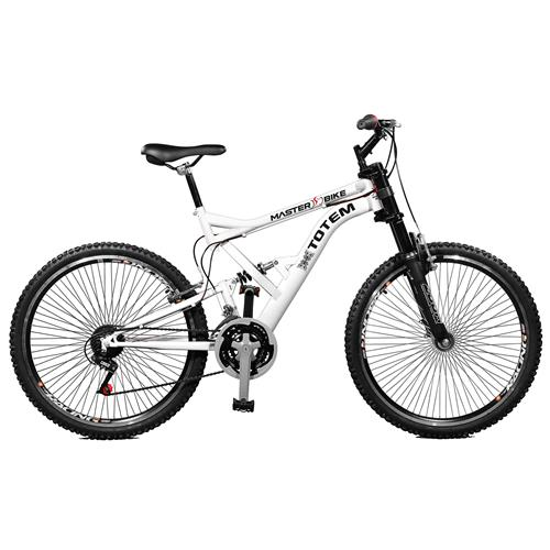 Bicicleta 26 Masculina Totem Suspensão Full Dupla Alta Master Bike