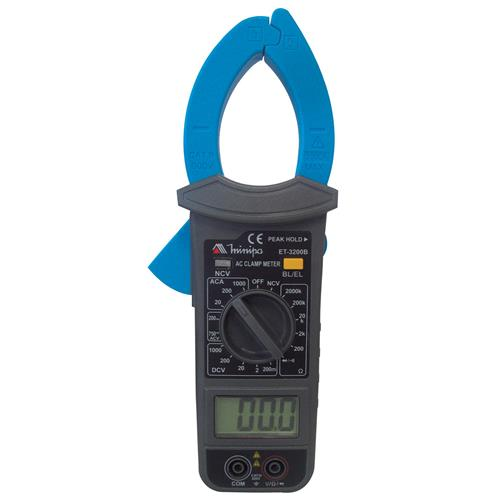 Alicate Amperímetro Digital Faixa Manual Et3200b Minipa