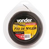 Fio De Nylon Para Aparadores 3.0Mm X  50M Silencioso Vonder