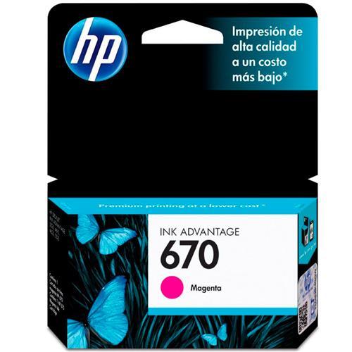 Cartucho De Tinta 670 Ink Advantage Magenta Hp Suprimentos
