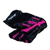 Luva De Musculação Pro Preto e Pink Tam P ProAction Sports