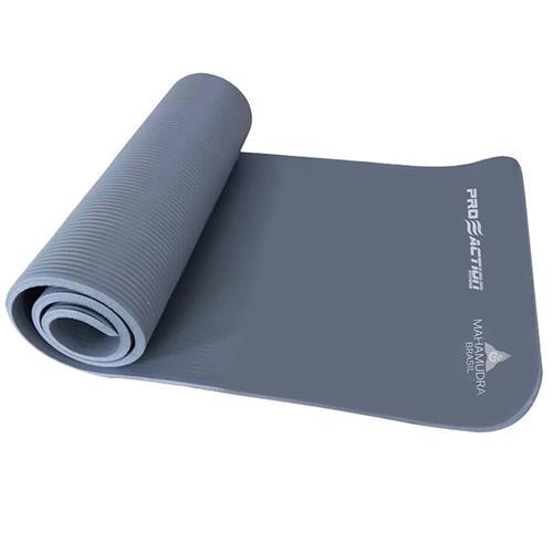Colchonete Nbr Yoga Mat Mahamudra Cinza Mh910 Proaction Sports