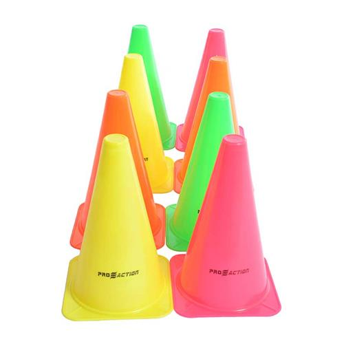 Kit De Cones Agilidade 20.5Cm 8 Peças G207 Proaction Sports