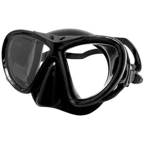 Máscara De Mergulho Preto Plástico ABS Lente De Vidro 480400 NTK