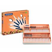 Conjunto Talheres Inox 42 Peças New Kolor 23199888 Tramontina