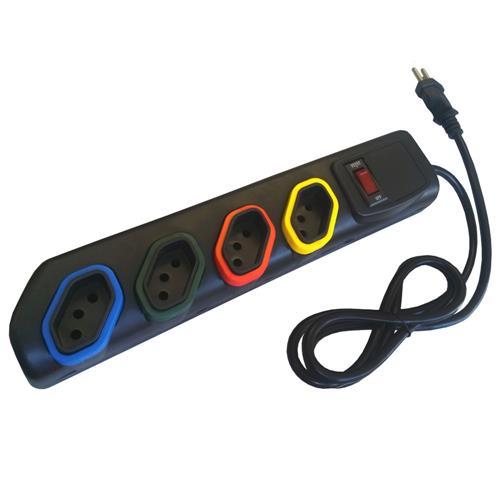 Filtro De Linha 4 Tomadas + Chave Dsijuntora 2000 Multitoc