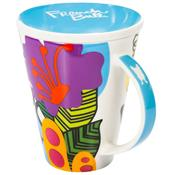 Caneca Com Tampa Oasis Porcelana 460ml 210013 French Bull