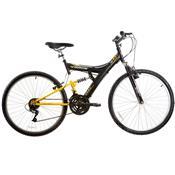Bicicleta Track&bikes Tb100xs Aro 26 Full Suspensão 18 Marchas - Preto/prata