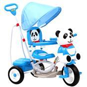 Triciclo Infantil Plástico Panda Azul E Branco Track Bikes