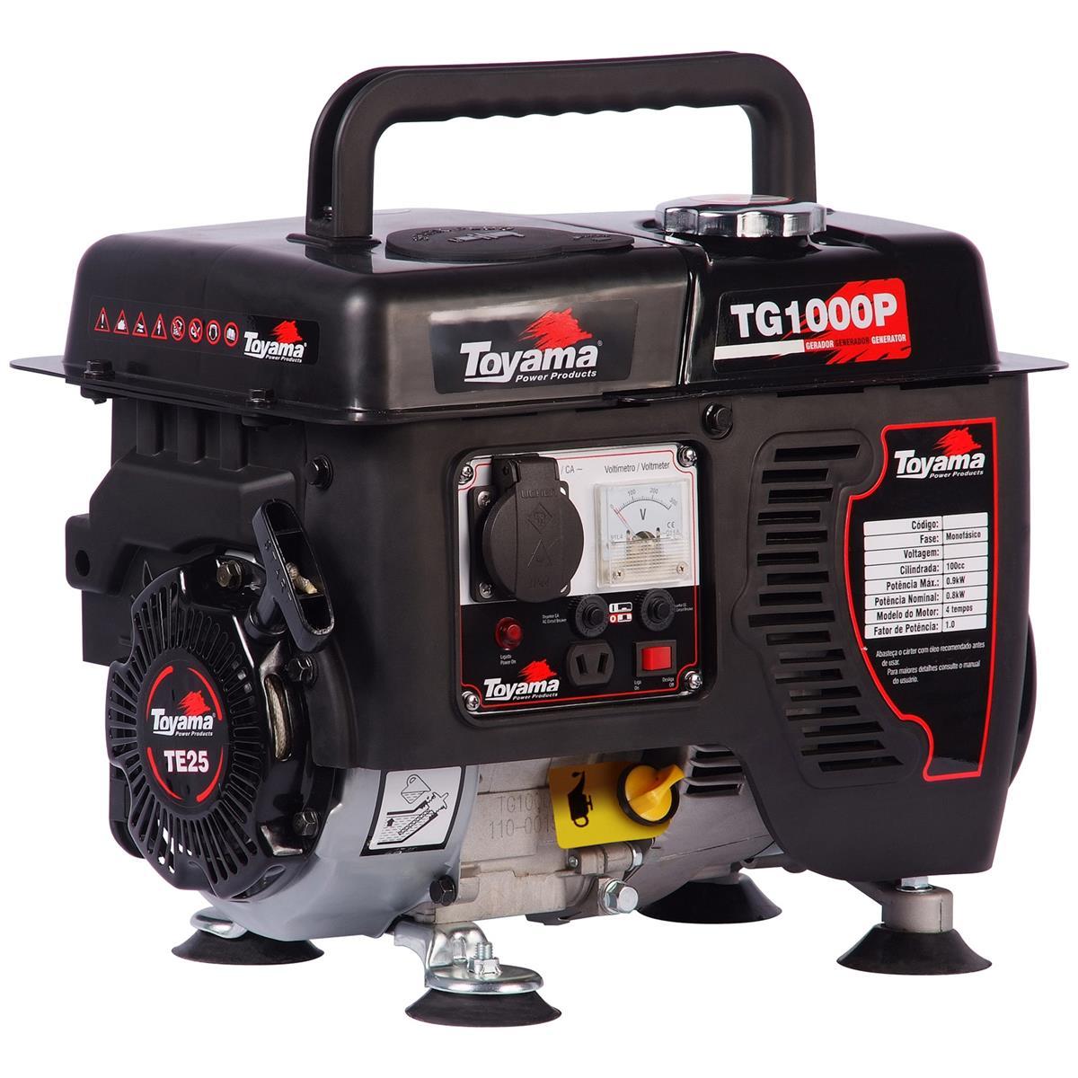 Gerador Gasolina 4 Tempos 110V 4 Litros Tg1000p - 1 Toyama