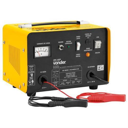 Carregador De Bateria Portátil Amarelo Cbv1600 Vonder