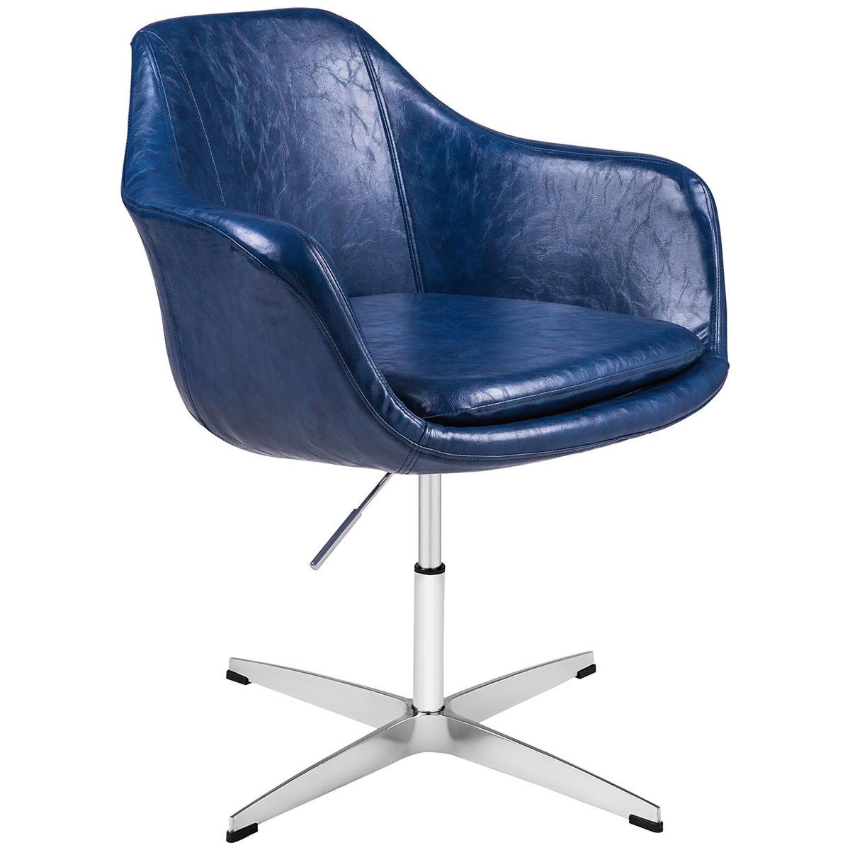 Cadeira Poltrona Havana Giratória Estofada Pu Brilho By Haus