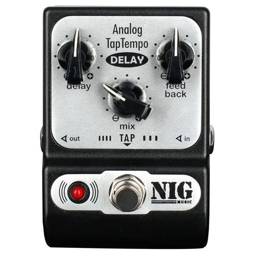 Pedal Analógico Guitarra e Baixo 600ms TapTempo Delay PADT Nig
