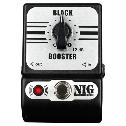 Pedal Guitarra E Baixo Ganho De Volume Black Booster Pbb Nig