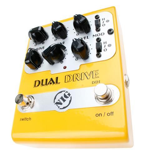 Pedal Super Guitarra E Baixo Dual Drive 3 Posições Dd1 Nig