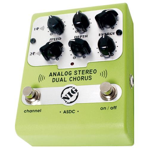 Pedal Analógico Para Guitarra e Baixo Dual Chorus ASDC Nig