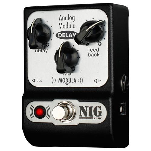 Pedal Pocket Analógico Guitarra e Baixo Modula Delay PADM Nig