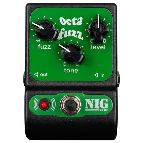 Pedal Pocket Guitarra e Baixo Analógico Octa Fuzz POC Nig