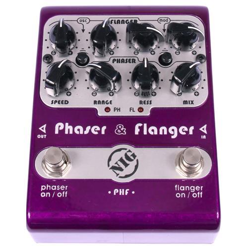 Pedal Super Para Guitarra E Baixo Phaser Flanger Phf Nig