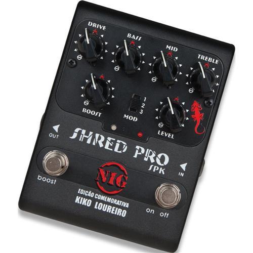 Pedal Para Guitarra Shred Pro 9V Chave 3 Posições Spk Nig