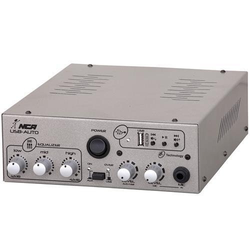 Amplificador Compacto 50W Rms Rca Usb Bivolt Usbauto Ll Áudio