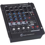 Mesa De Som Mixer 4 Canais 3EQ Starmix S402R LL Áudio