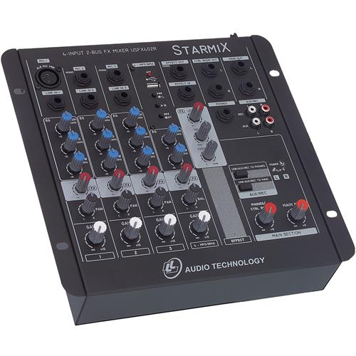 Mixer De Som 4 Canais Controle Panorâmico Usfx402r Ll Áudio