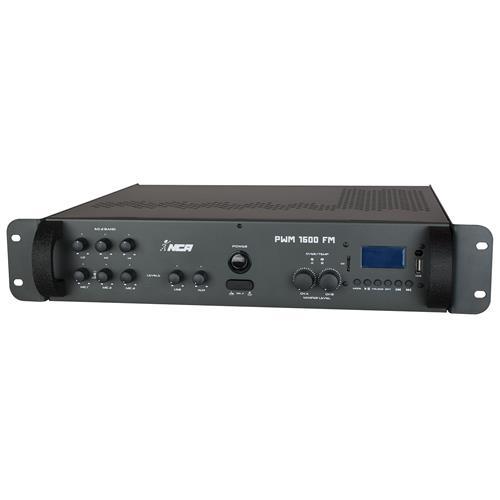 Som Ambiente 200 + 200 W Rms Em 4 Ohms Pwm1600fm Ll Áudio