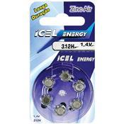 Bateria De Lítio Zinc-Air 312 Horas 1.4V 23657 Icel