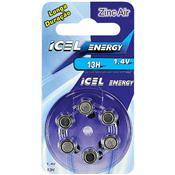 Bateria De Lítio Zinc-Air 13 Horas 1.4V 23660 Icel