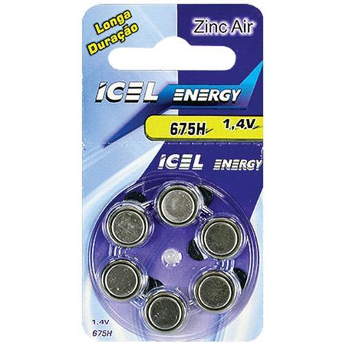 Bateria De Lítio Zinc-Air 675 Horas 1.4V 23661 Icel