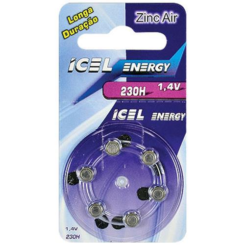 Bateria De Lítio Zinc-Air 230 Horas 1.4V 23662 Icel