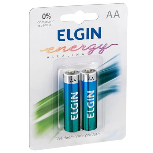 Pilha Alcalina Energy 1.5 V AA 2 Unidades 82152 Elgin