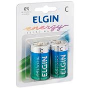 Pilha Alcalina Tamanho C Energy 1.5 V 2 Unidades 82156 Elgin