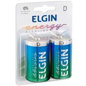 Pilha Alcalina Energy Tamanho D 2 Unidades 82157 Elgin