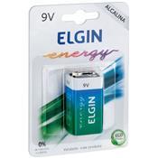Bateria Alcalina Energy 9V 1 Unidade 82158 Elgin