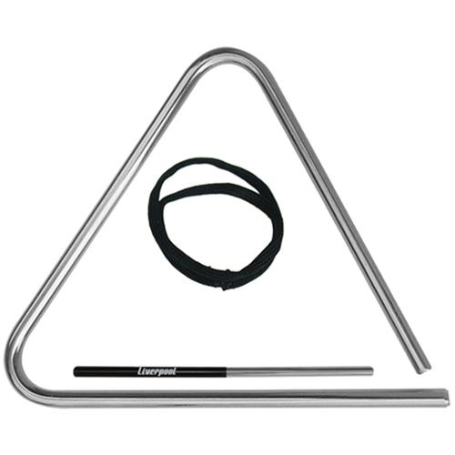 Triângulo Musical 20cm De Aço Cromado TR-20 Liverpool