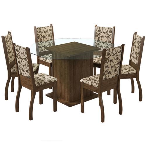 Sala De Jantar Viena Rustic 6 Cadeiras 043885Ztfbm Madesa