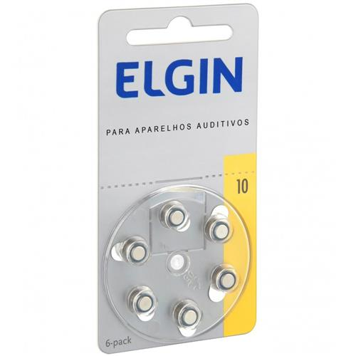Baterias Para Aparelho Auditivo 6 Unidades Tam 10 82237 Elgin