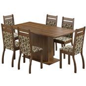 Sala De Jantar Com 6 Cadeiras Versalhes Rustic Floral Madesa