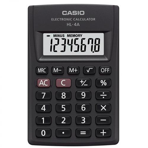 Calculadora De Bolso 8 Dígitos Função Percentual HL-4A Casio