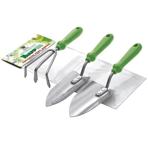 Conjunto De Jardinagem Com 3 Peças Verde Fj1204 Trapp