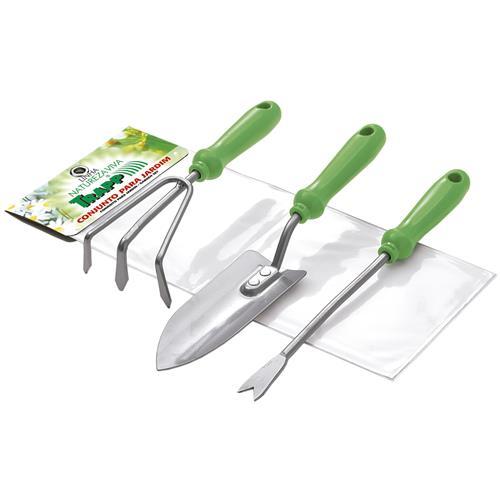 Conjunto De Jardinagem Com 3 Peças Verde Fj1205 Trapp